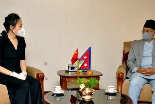 Chinese Ambassador Hou meets Home Minister Khand