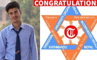 Dharanidhar Bhatt became the second topper of Tribhuvan University