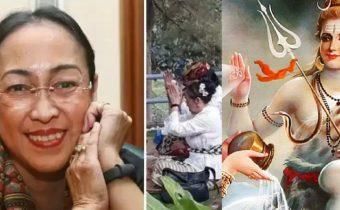 Sukmawati Soekarnoputri, daughter of Indonesia's founding father Sukarno to convert from Islam to Hinduism