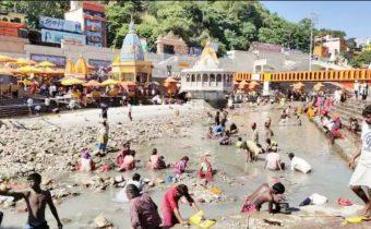 uttarakhand gang nahar closed up sinchai vibhag harki paidi haridwar ganga river ganga sabha protested ganga dry